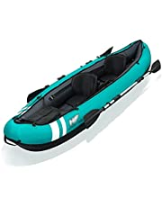 Opblaasbare kajak, opvouwbare kano set voor 2 personen, watersporten en andere recreatieve activiteiten 330 * 86 * 48cm