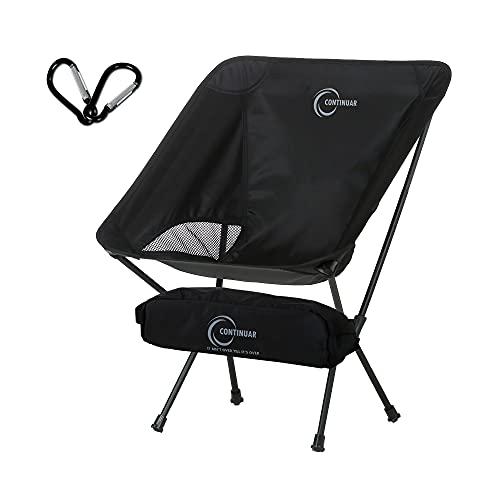 [Amazon限定]アウトドアチェア キャンプ椅子 キャンプチェア カラビナ付き 超軽量 折りたたみ コンパクト ハイキング 釣り 登山 耐荷重150kg 収納サイズ 36×13cm CONTINUAR(コンチヌアル)