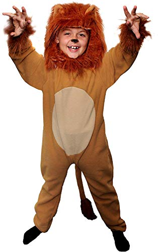 LION COSTUME FOR KIDS. 2-PIECE LION FANCY DRESS COSTUME WITH TAIL +...