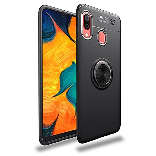 Carcasa de telefono Estuche protector para Samsung Galaxy A40 Caso TPU Soft TPU Afile Funda a prueba de golpes 360 grados Rotación Metal Anillo Magnético Kickstand DISIPACIÓN DE CALOR DISIPACIÓN DE CA