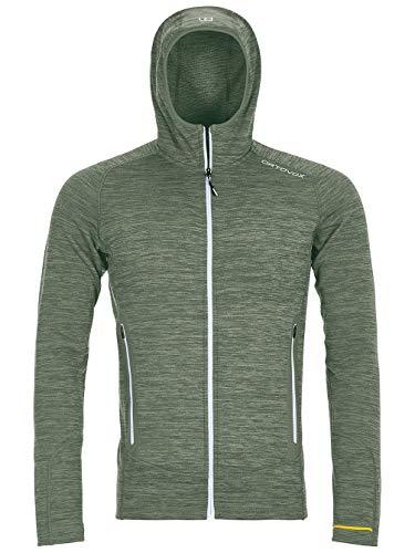 ORTOVOX Herren Fleece Light Melange Hoody, Green Forest Blend, M