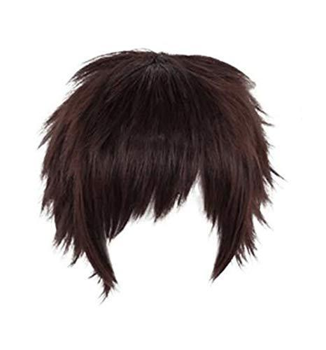 GZIRUE Rotbraune Kurze Gerade Perücke Haar für Jungen Männer Anime My Hero Overhaul Kai Chisaki Cosplay Kostüm Mein Held BNHA Wig
