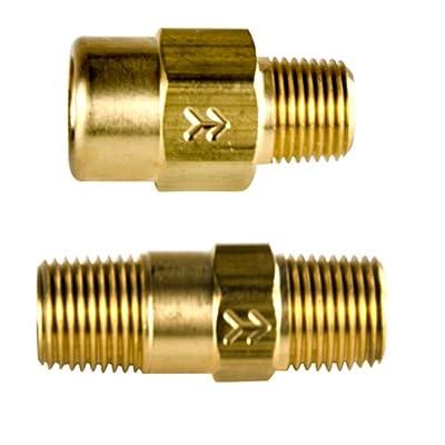"210 Brass Check Valve 1/8""FNPT x 1/8""MNPT w/EPDM 1 PSI Cracking Pressure from SMC"