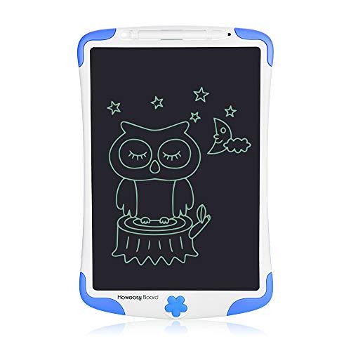 Howeasy Board 電子パッド 電子メモ帳 卓上 ペン立て 単語帳 筆談ボード 家計簿 書いて消せるボード 学校とオフィスのための手書き紙の落書きパッド10インチ … (青)