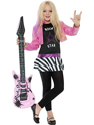 Luxuspiraten - Mädchen Kinder Glamour Rockstar Superstar Sängerin Musikerin Kostüm mit Oberteil und Jacke, perfekt für Karneval, Fasching und Fastnacht, 140-152, Schwarz