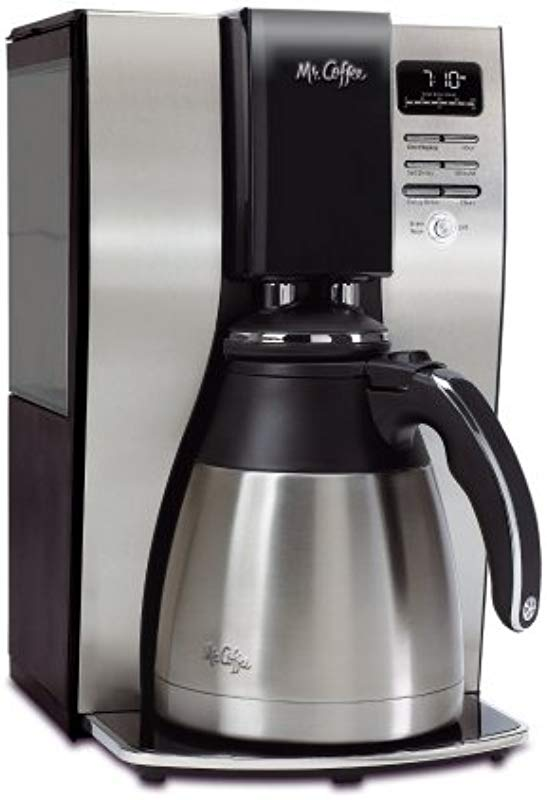 Classic Coffee Concepts BVMCPSTX91 Optimal Brew 10 Cup Thermal Programmable Coffeemaker 44 Black Brushed Silver