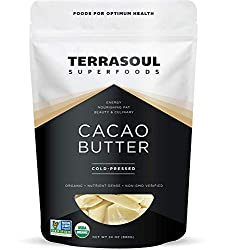 Terrasoul Superfoods Organic Cacao Butter, 1.5 Lbs - Raw | Keto | Vegan | Unrefined