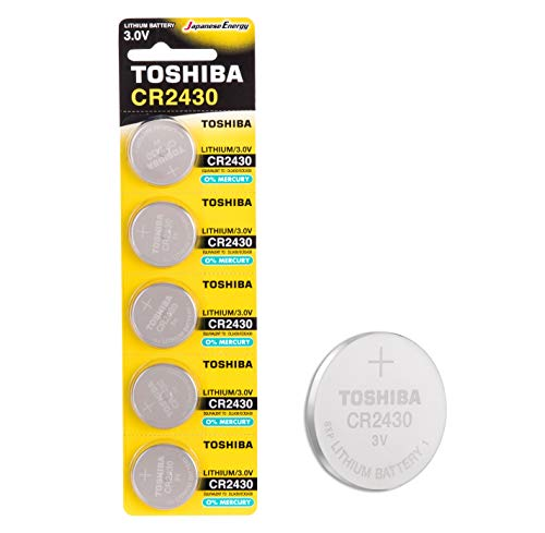 Toshiba CR2430 3V Lithium Coin Cell Battery Pack of 5