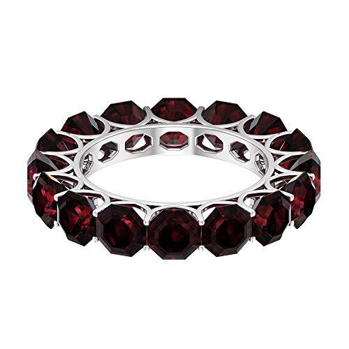Rosec Jewels 14 quilates Color blanco y dorado. rojo Garnet