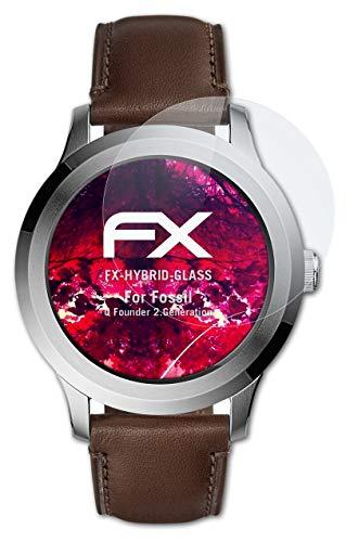atFoliX Glasfolie kompatibel mit Fossil Q Fo&er 2.Generation Panzerfolie, 9H Hybrid-Glass FX Schutzpanzer Folie