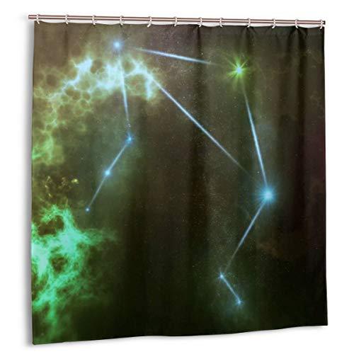 Airmark Duschvorhang für Badezimmer Dekor Vorhänge Set, Waage in den zwölf Sternbildern Stoff Badvorhänge mit Haken 72x72in