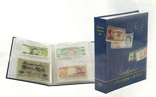 Banknotenalbum für verschieden große Banknoten. Gebunden. 50 Seiten.