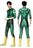 SJJYP Adultos Green Aquaman Onesies Body, DC Superhéhero Cosplay Costume, Juego de Anime Cosplay Rendimiento Traje Halloween Disfraz de Disfraces,Green-Large