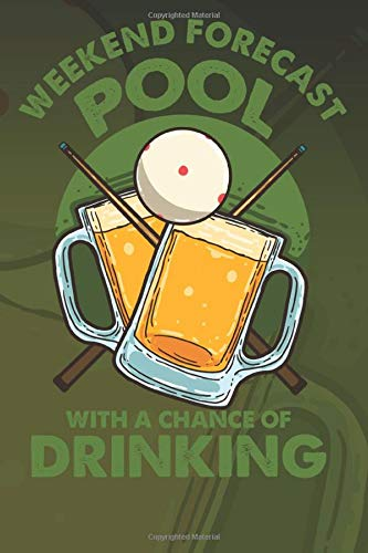 Weekend Forecast Pool With A Chance Of Drinking: Ready to Play Paper Games | Pool Billiards / Hangman, Tic Tac Toe, Four In A Row, Battleships ( 6 x 9 ... Trip Entertainment Pencil and Paper Games