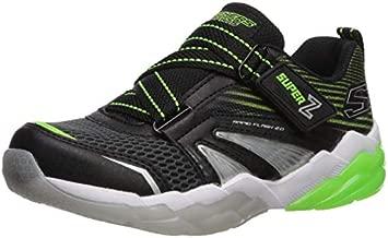Skechers Kids Boys' Rapid Flash 2.0-SOLUXE Sneaker, Black/Lime, 12 Medium US Little Kid