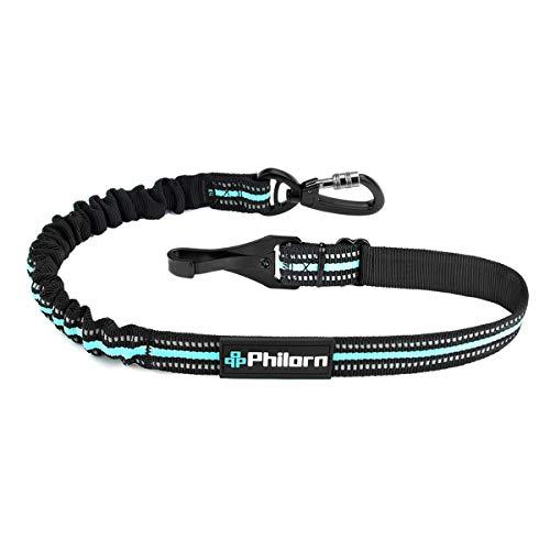 PHILORN Universal Hunde Sicherheitsgurt fürs Auto (28-32 in einstellbar), Verwicklungsfrei Hundesicherheitsgurt mit Reflexnähten und Elastischer Puffer, um Verletzungen Ihres Haustieres zu Vermeiden