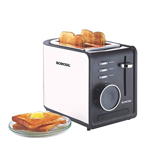 Borosil - 850-Watt Krispy Pop-up Toaster (Black)