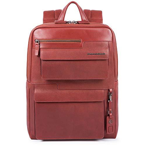 Piquadro Wostok Rucksack Fast-Check Computer & Tablet-Tasche, Schutz gegen Frode RFID, Farbe Leder