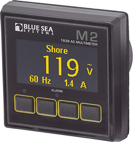 Blue Sea Systems M2 OLED Medidores digitales - 1838, Multímetro AC, Beige