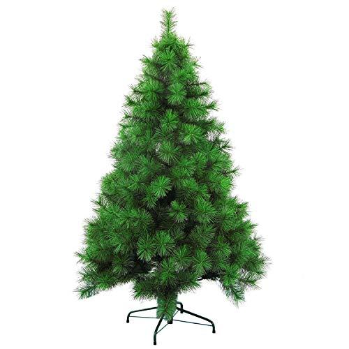Wohaga Sonderpreis Lagerräumung! Naturgetreuer künstlicher Weihnachtsbaum Christbaum Tannenbaum schwer entflammbar inkl. Baumständer Kunststoff/Metall Grün mit Klappsystem, Größe:180cm