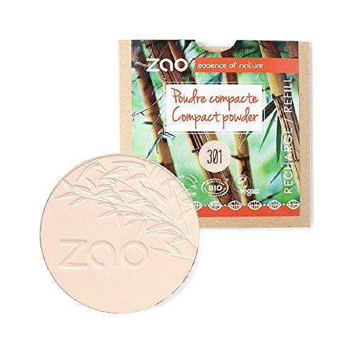 Zao - Recharge Poudre Compacte Bio / 9 Gr - Couleur : Ivoire n°301