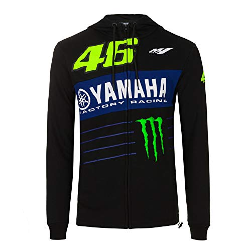 Valentino Rossi Yamaha M1 Dual Monster Energy Official VR46 Zip46 Zip Hoodie Negro - XL