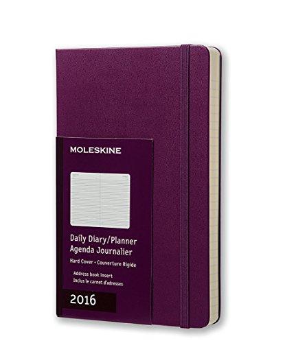 Moleskine 2016 Daily Planner, 12M, Large, Mauve Purple, Hard Cover (5 x 8.25)