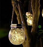 Linterna Solar, Lámparas Solares de Vidrio para Decoración de Luces Colgantes...