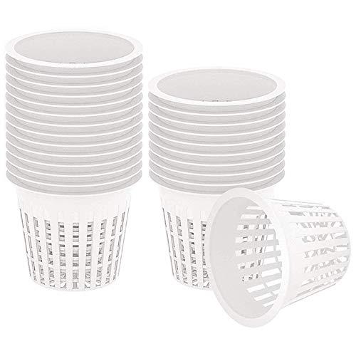 MINGMIN-DZ Dauerhaft Garten Kunststoff-Net Cups, 100 Stück Pflanzkorb Cup, Garten geschlitzt Mesh-Heavy Duty Weit Lip-Design Netz Töpfe