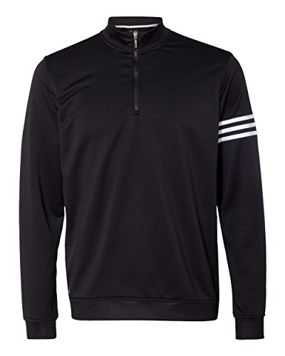 adidas Mens Climalite 3-Stripes Pullover (A190) -Black/Whit -3XL
