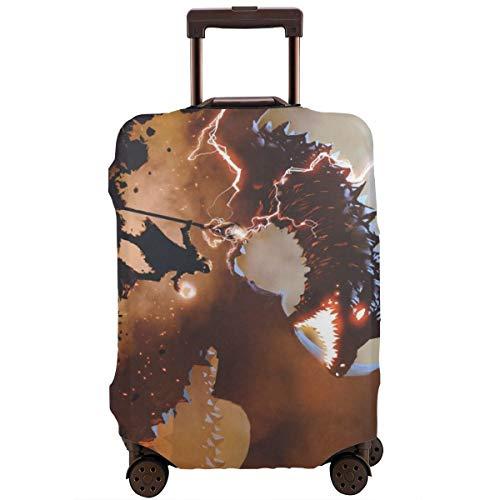 JOJOSHOP Protector de equipaje Wizard Invocar al dragón equipaje de viaje, funda elástica para maleta lavable y duradera, resistente a arañazos, funda elástica para 18 – 32 pulgadas