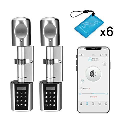 WE.LOCK Elektronisches Schloss Verpackung für zwei Passwörter und Bluetooth-Smart-Türschloss Zylinder mit 6 RFID-Karten, wasserdichte Hülle