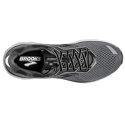 Brooks Mens Ghost 12 Running Shoe - Black/Pearl/Oyster - 2E - 11.0 2