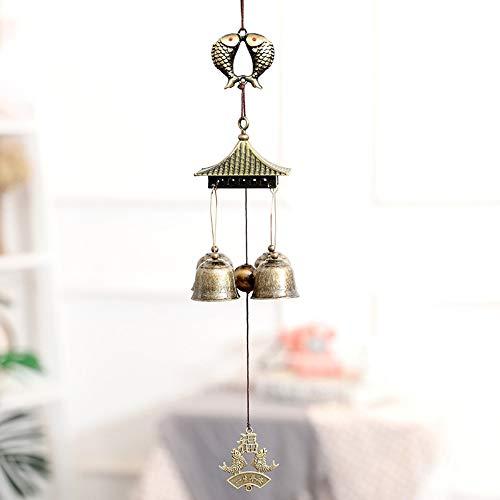 Haihf Windspel, klassieke vintage Chinese stijl hangdecoratie 4 klokken huistuin raam decoratie