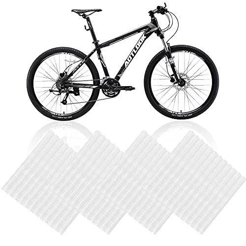 Reflektierende Fahrradspeichen, 48 Stück 3m Speichenreflektoren Fahrrad Weiß 360°Sichtbarkeit Speichen Reflektor Warnung Streifen Reflektor Clips Fahrrad für Mountainbikes Bicycle Offroad Bikes, Weiß