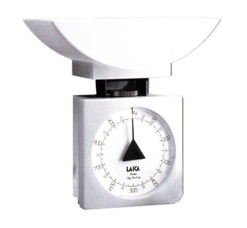 Laica K711 Bilancia da Cucina Meccanica, 1 kg, white, plastica