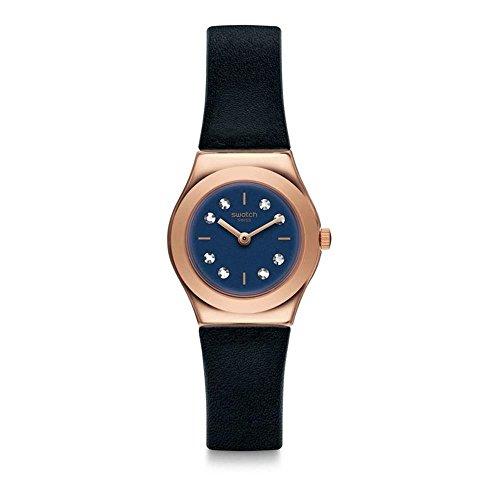 Swatch Reloj Analogico para Unisex de Cuarzo con Correa en Cuero YSG152