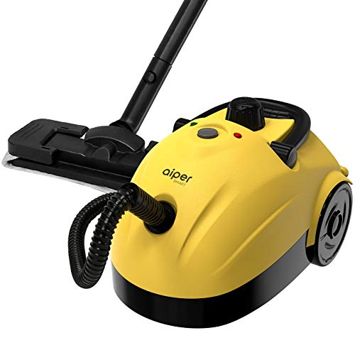 1500W Multipurpose Steam Cleaner, Household Steamer w/ 1.2L Tank for Chemical-Free Cleaning, Heavy Duty Rolling Cleaning Machine for Carpet, Floors, Windows and Cars