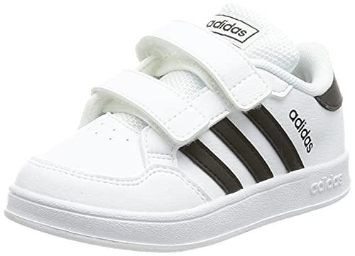 adidas BREAKNET I, Zapatillas de Tenis Unisex bebé, FTWBLA/NEGBÁS/FTWBLA, 19 EU