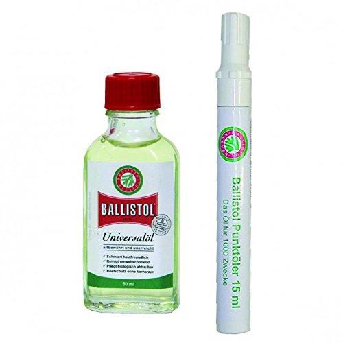 BALLISTOL Öl 50 ml Glasflasche und 1 BALLISTOL Punktöler mit 15ml