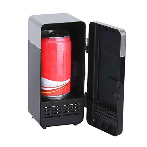 HCCX autokoelkast, zwart, ABS, 5 V, 10 W, USB, 19,4 x 9 x 9 cm, voor auto, mini-koelkast, auto, dranken, boot, reizen, cosmetica, hoogwaardige koelkast