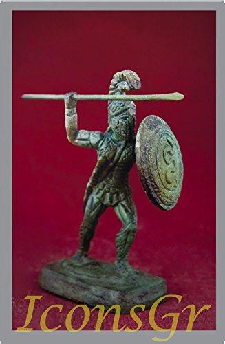 IconsGr Griego Antiguo Bronce Museo Estatua réplica de leónidas Rey de Esparta (1010)