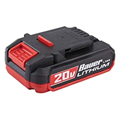 Faster charging - get a full charge in 40 minutes or less Easy-view fuel gauge Works with all Bauer cordless tools