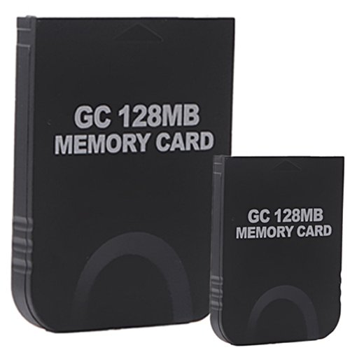 HDE 2 Pack of 128 MB Gaming Memory Cards for Nintendo Wii and Gamecube (Black)