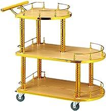 HTTJJ Utility Carts Trolley Racks - Wine Cart Snack Cart Mobile Tea Cart Hotel Wine Cart Bank Trolley Beauty Tool Cart Sto...