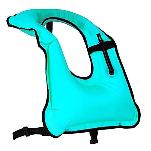 Chalecos Inflables De Natación Float Portátil Ayuda De La Flotación Builería Snorkeling Chaquetas De Seguridad Azul Flotador Buceo Chaleco