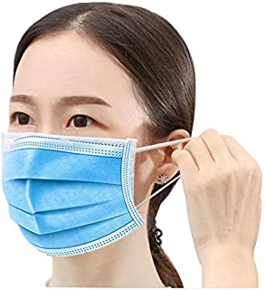 Disposable 𝐌𝐀𝐒𝐊 Box of 50, 3-Ply Protective Anti Dust Breathable Medical Beauty Unisex Disposable Earloop Mouth Face  ...
