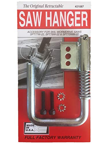 Toolhangers Unlimited Original Retractable Saw Hanger (Red #21087) - Accessory for Skil Wormdrive Saws SPT70WM-22, SPT77W-22 and SPT78W-22