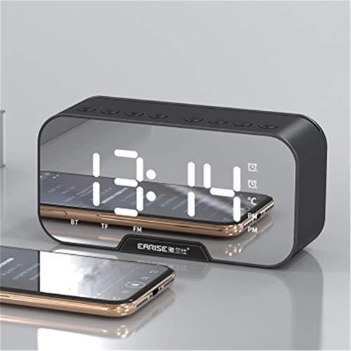RongWang Espejo LED Reloj Despertador Multifunción Inalámbrico 5.0 Reproductor De Música Bluetooth Reloj De Mesa Digital Electrónico con Modo De Alarma Dual (Color : A3)