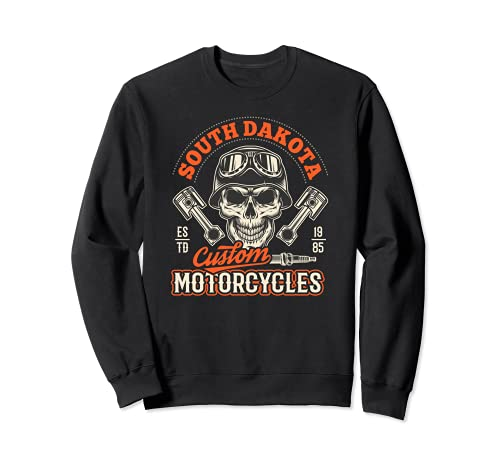 South Dakota Custom Motorcycles Hog Riders Skull Graphic Sudadera